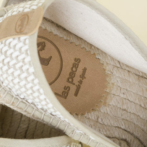 Espadrilles made with certified recycled cotton.